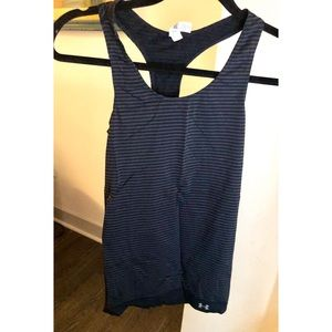 Striped Under Armour work out tank top